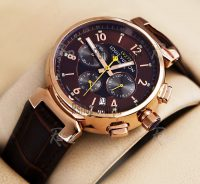 Louis Vuitton Stalish Leather Chronograph Watch-LV277